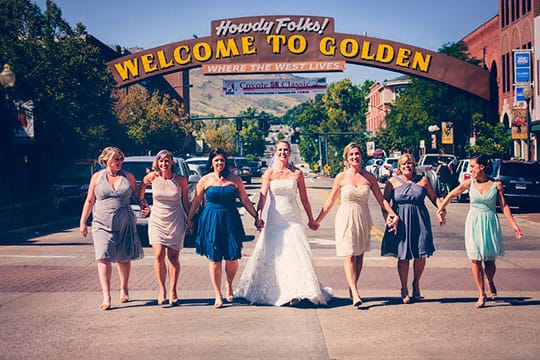 Downtown Golden Wedding Photography
